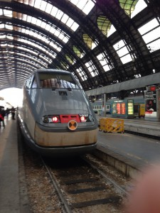 ミラノからヴェネツィア行きの電車