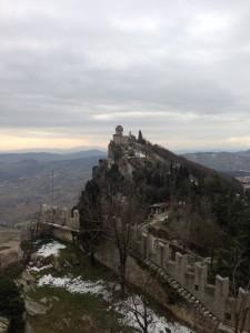 サンマリノ 第一の城から見た第二の城