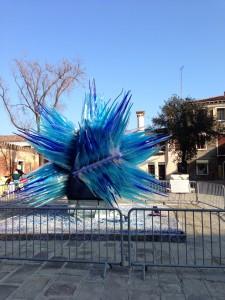 ブラーノ島のガラス作品